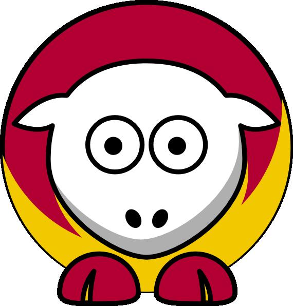 570x596 Sheep 3 Toned Kansas City Chiefs Team Colors Clip Art