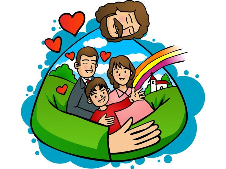 736x552 Christ Clipart Happy Family