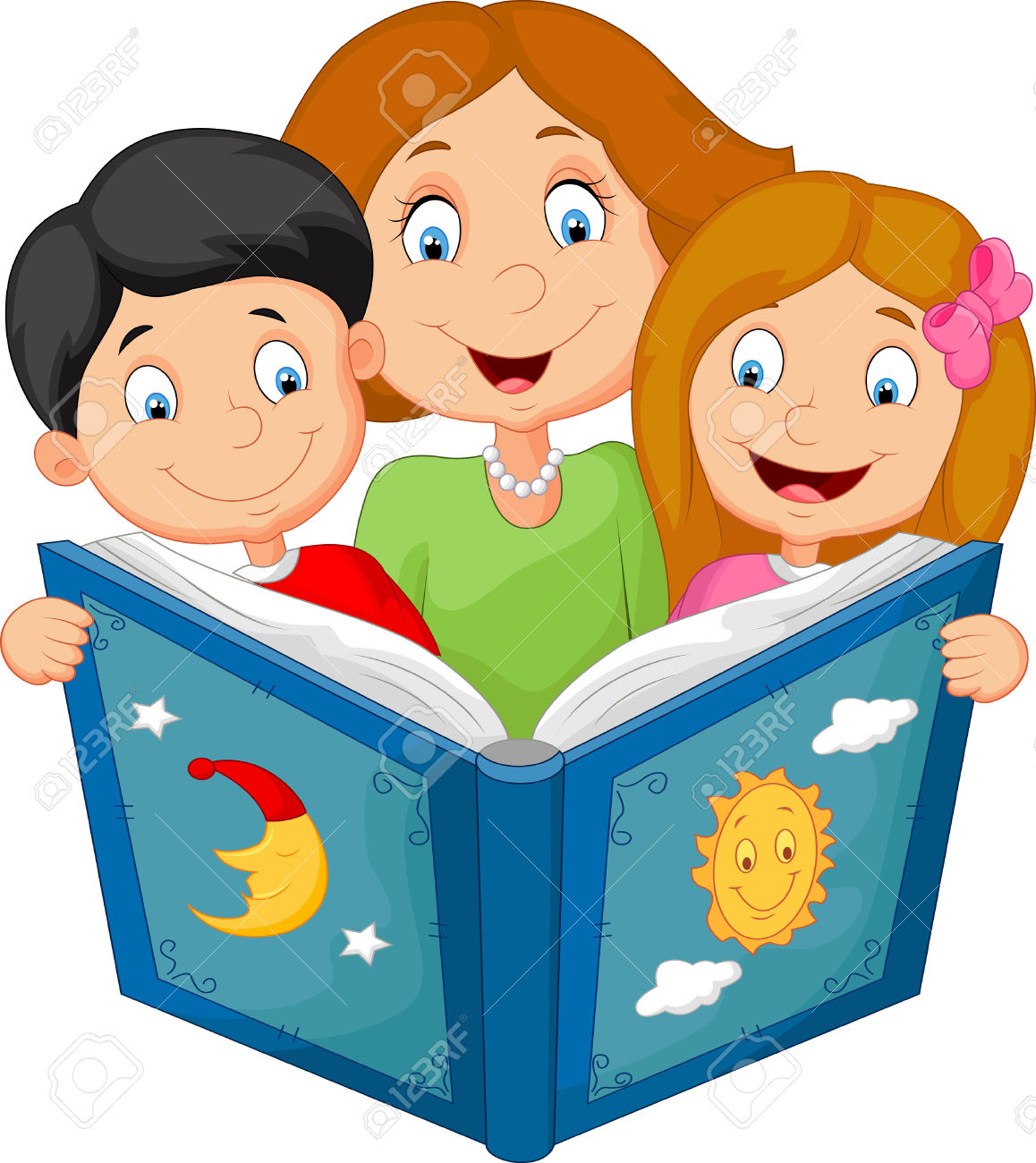 1158x1300 Clipart Of Child And Parent Reading