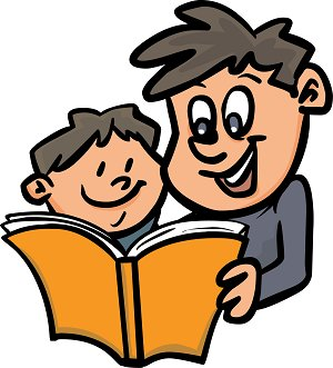 300x331 Parents And Children Reading Clipart