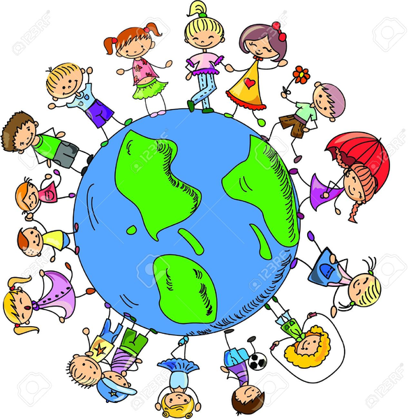 599x600 Clipart Of Children Around The World Holding Hands Free Images
