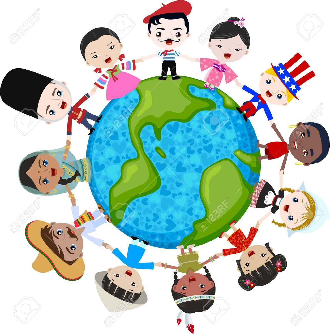1286x1300 Clipart Of Multicultural