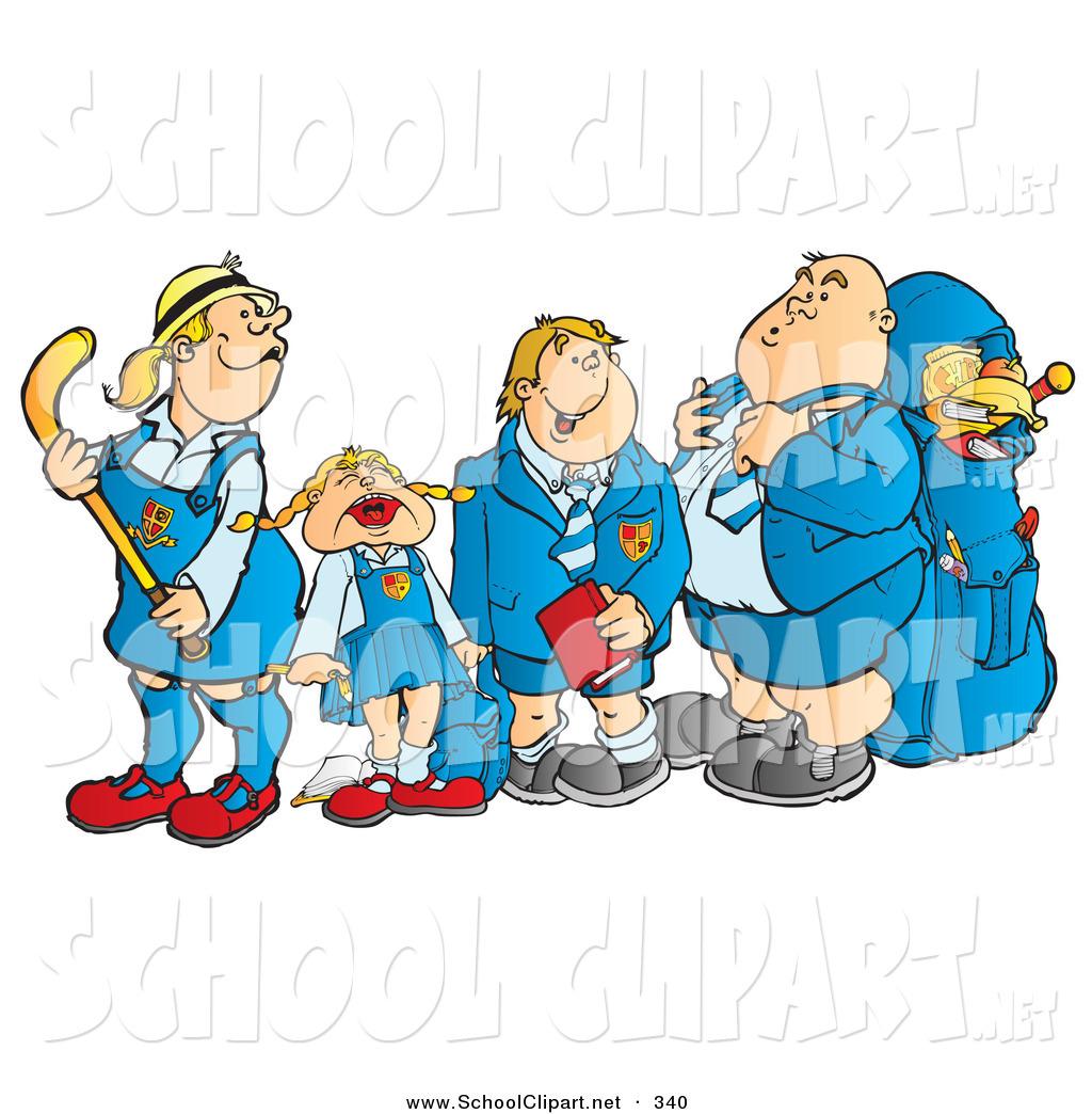 1024x1044 Clip Art Of A Line Of School Children Waiting