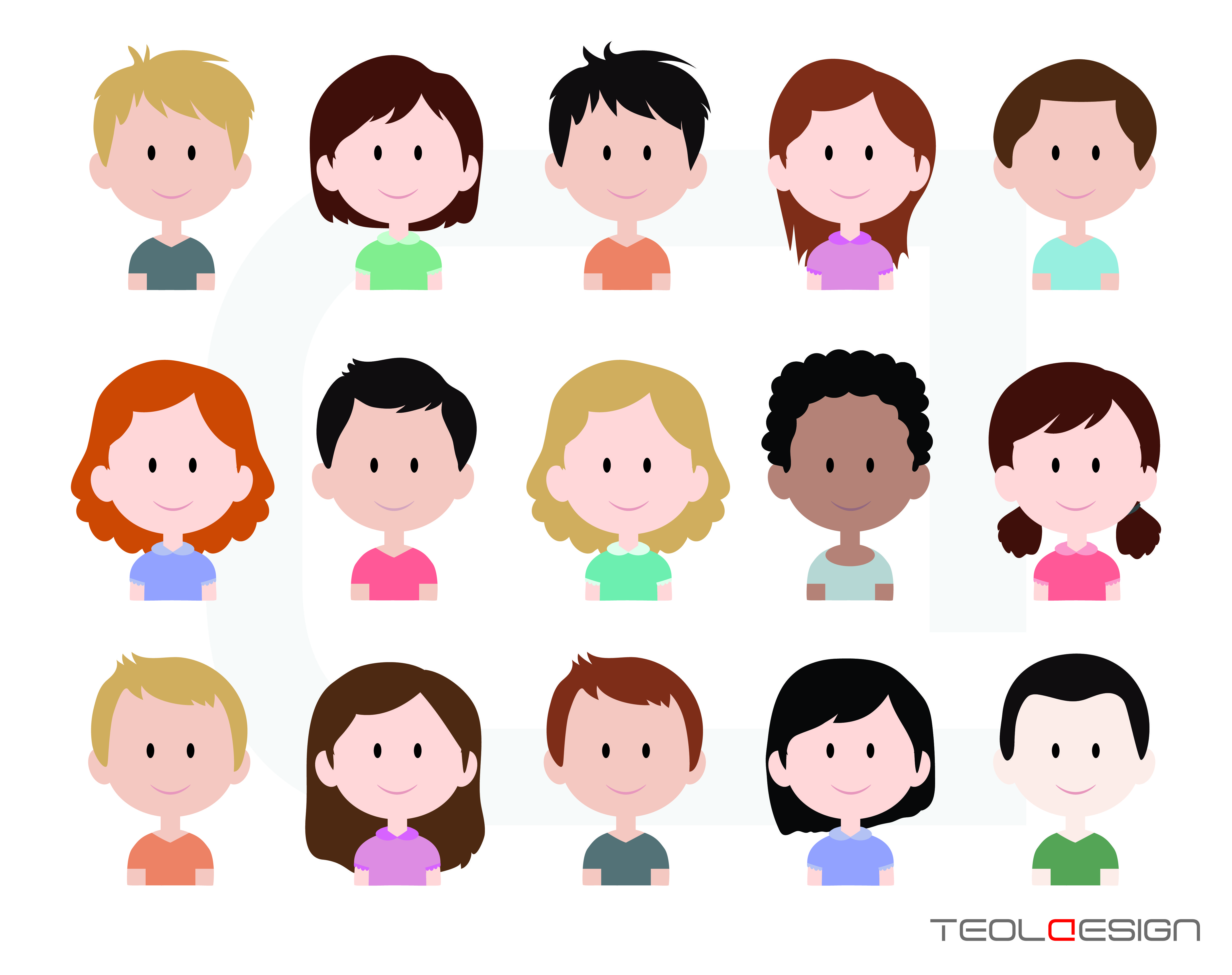 5000x3958 Eps Svg Png Cute Baby And Children Faces, Avatar, Icon, Digital