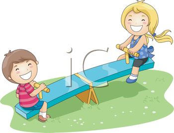 350x267 Kids Playing On A Playground Seesaw