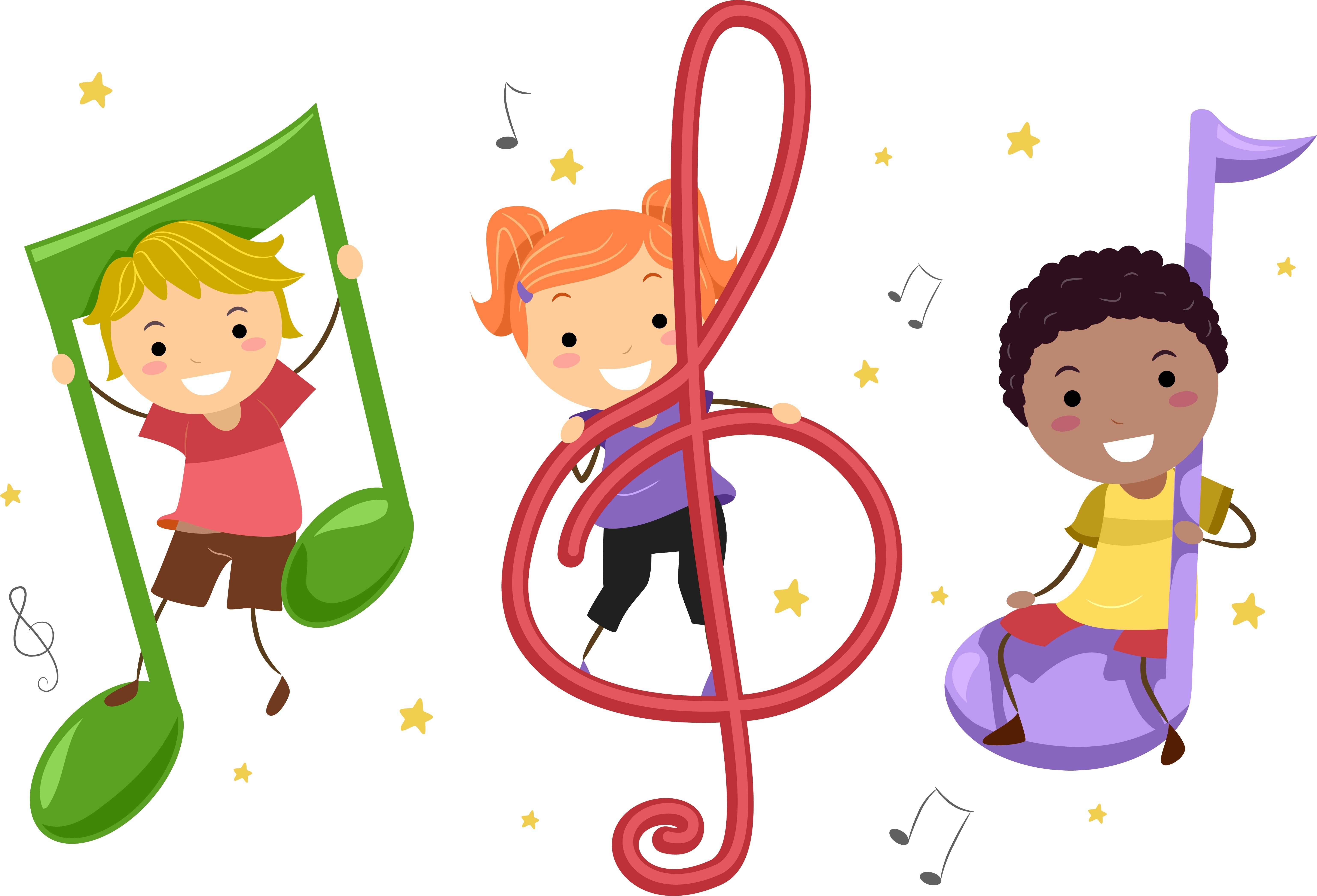 6154x4187 Kids Singing And Dancing Clipart