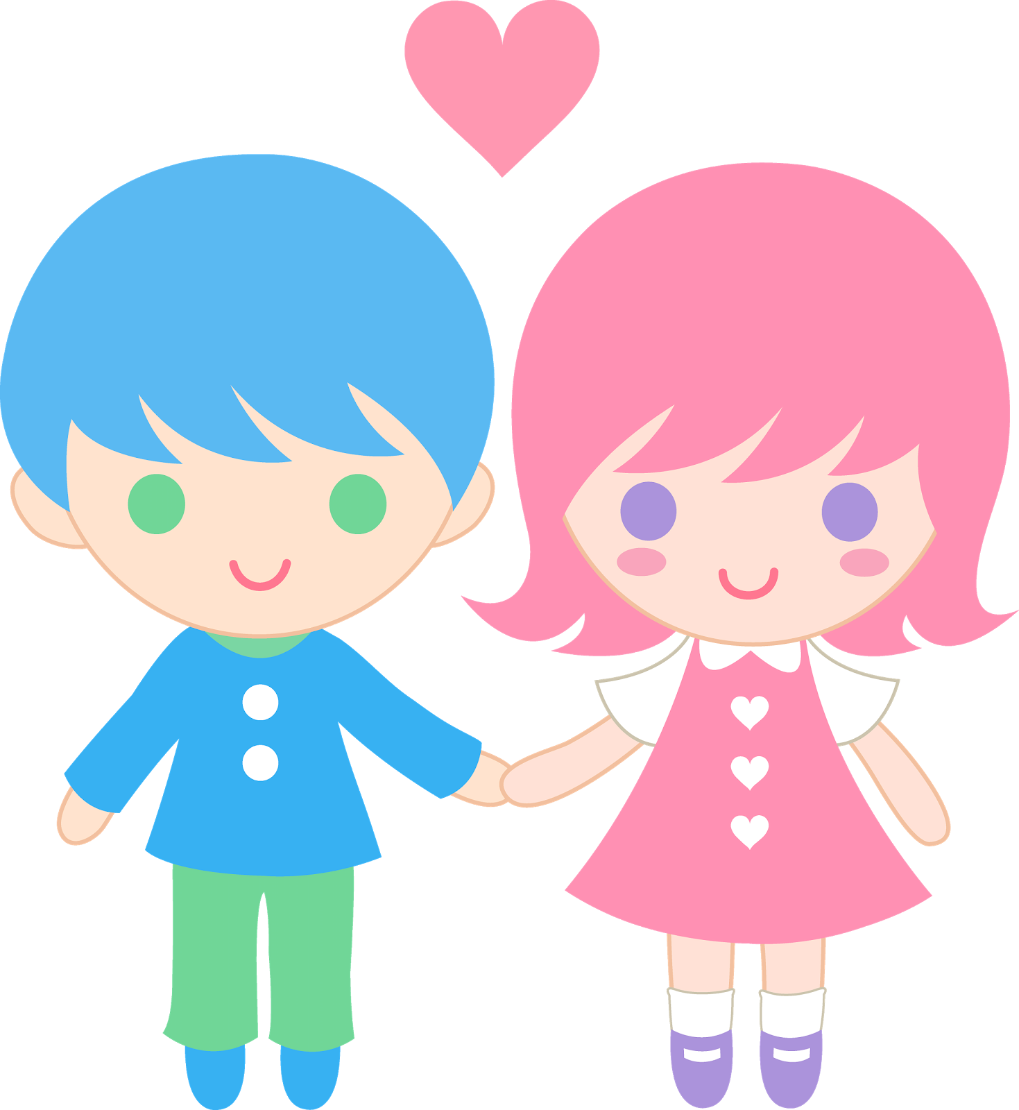 1469x1600 Little Boy And Girl Clipart Happy Kids Vector Search
