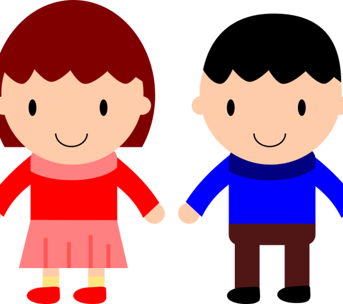 678x600 Boy And Girl Looking L Clipart Amp Boy And Girl Looking L Clip Art