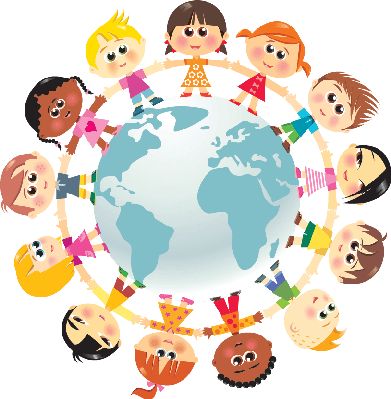 391x399 Children In Unity Around The World Clipart The Arts Image