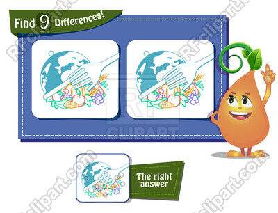 400x306 Game For Children And Adults. World Food Day. Royalty Free Vector