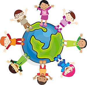 300x294 Multicultural Kids Clipart Collection