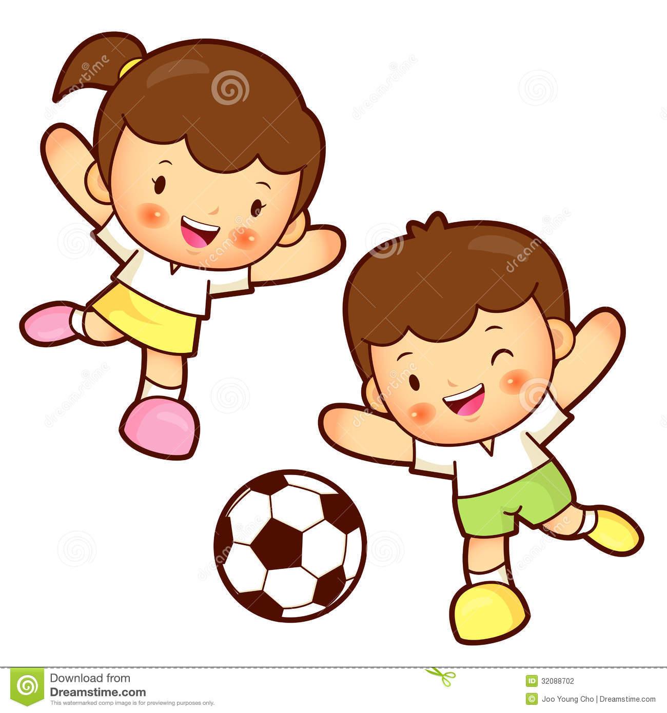 1300x1390 Children Playing Football Clipart 101 Clip Art