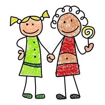 350x350 Children Not Sharing Clipart