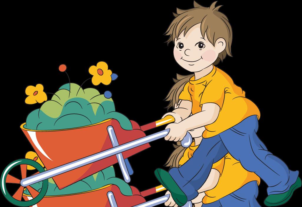 1026x703 Kids Gardening Clipart