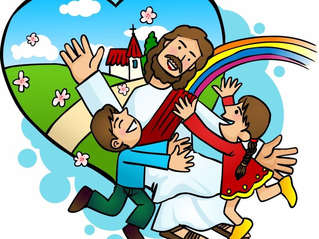 1024x768 Jesus Children Clip Art