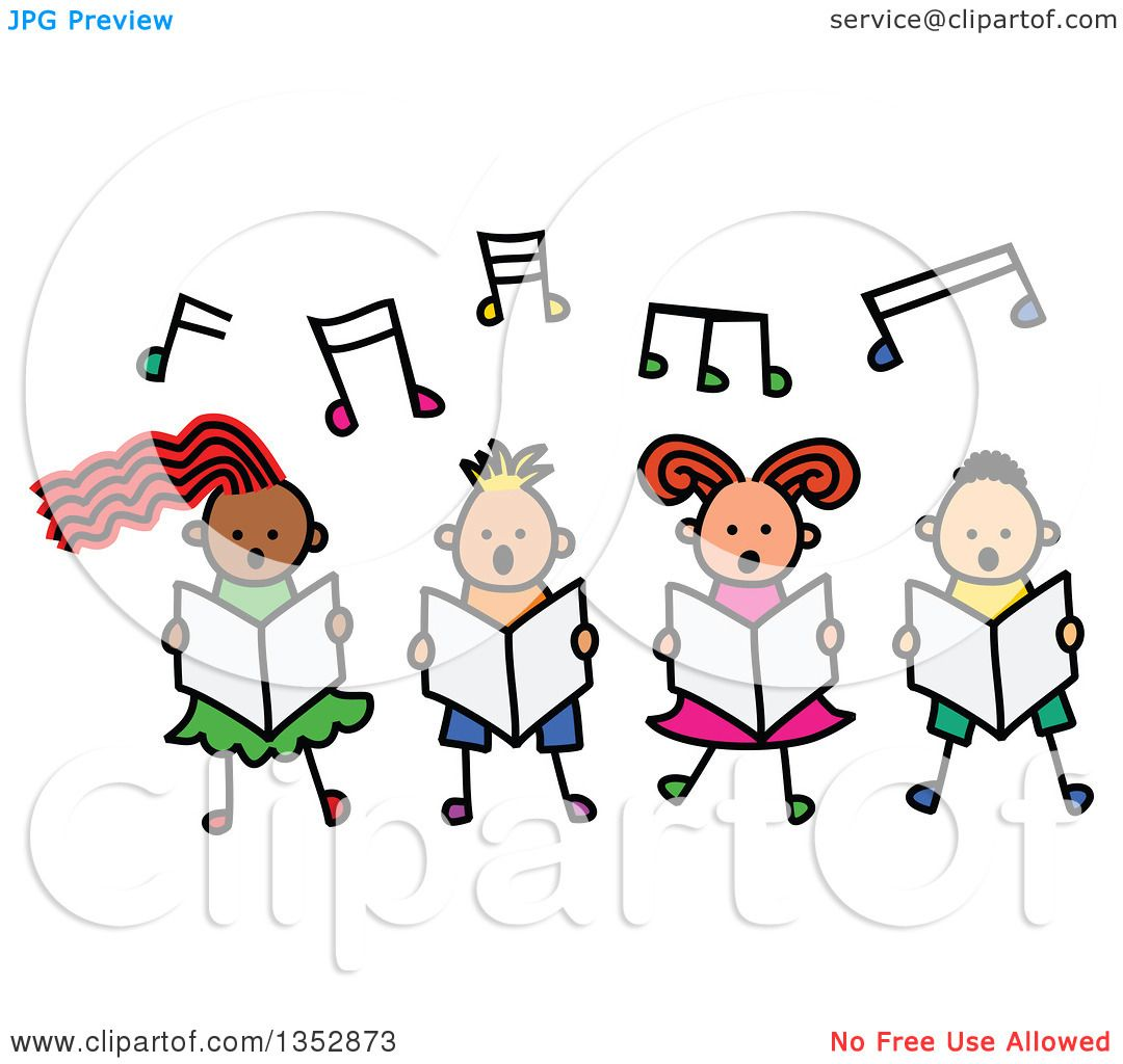 1080x1024 Clipart Of A Doodled Toddler Art Sketched Group Of Four Children