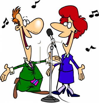 336x350 People Singing Clipart