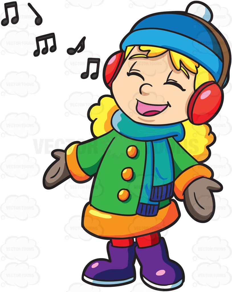 814x1024 Singing Clipart Vector Toons