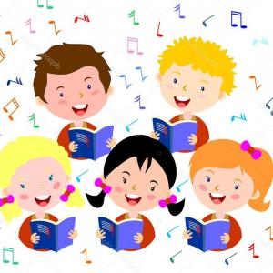 300x300 Cartoon Vector Clipart Of Cartoon Singing Children In A Choir By