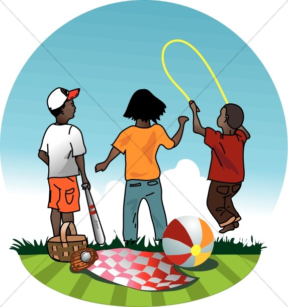 573x612 Playful Children In Summer Vacation Bible School (Vbs) Clipart