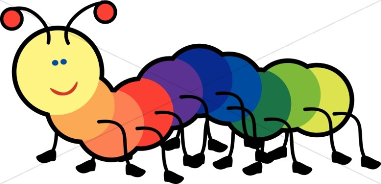 776x374 Rainbow Caterpillar Childrens Church Clipart