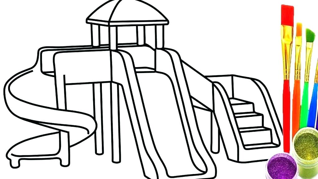 1024x576 Free Printable Playground Coloring Worksheets Playground Coloring