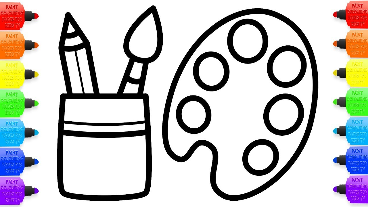 1280x720 How To Draw Set Artist Coloring Pages For Children