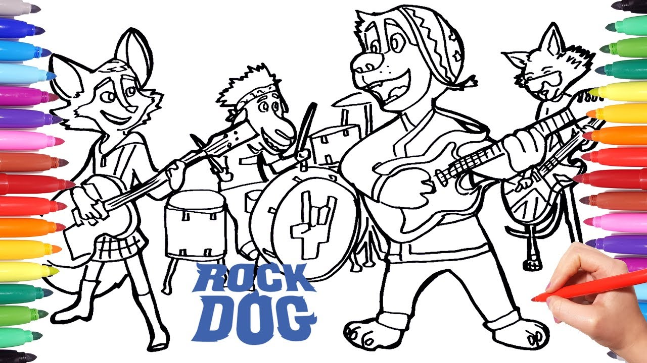 1280x720 Rock Dog Coloring Pages For Kids Drawing And Coloring Rock Dog