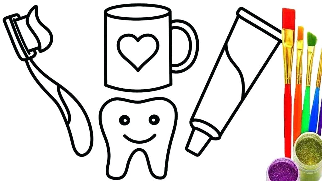 1024x576 Toothpaste Coloring Toothbrush Elephant Toothpaste Coloring Page