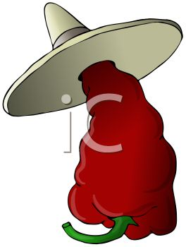 264x350 Mexican Chili Pepper Wearing A Sombrero