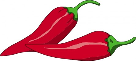 444x200 Red Chili Clipart