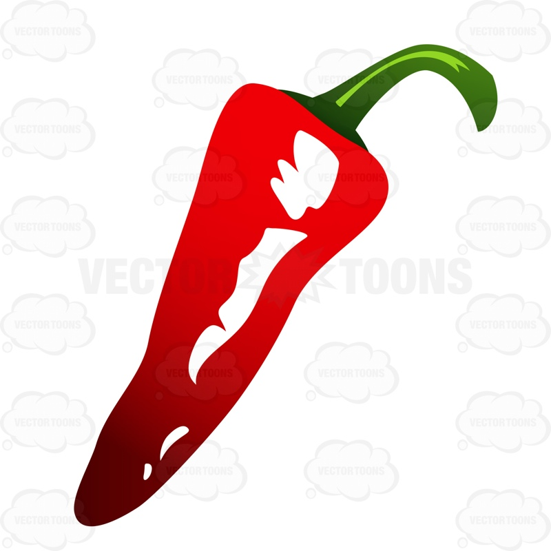 800x800 Red Chili Pepper Cartoon Clipart Vector Toons