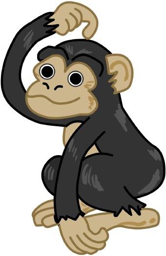 340x523 Chimpanzee Clip Art Clipart Panda