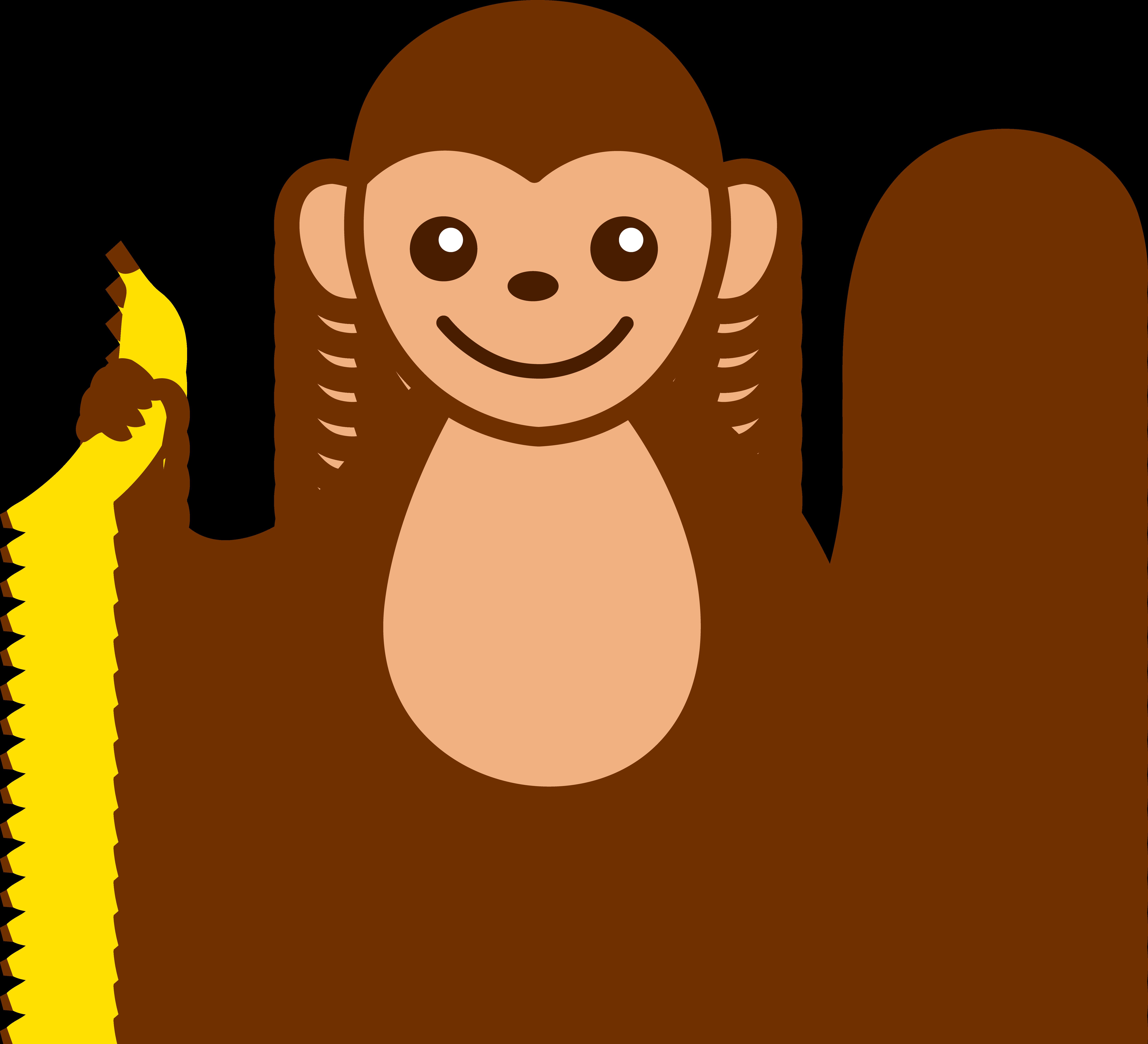 6597x6001 Clip Art Monkey Clipartlook