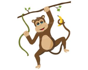 340x270 Chimpanzee Clipart Etsy