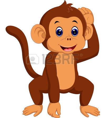 414x450 Chimpanzee Clipart Brown Monkey