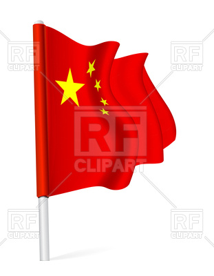 311x400 Flag Of China Royalty Free Vector Clip Art Image