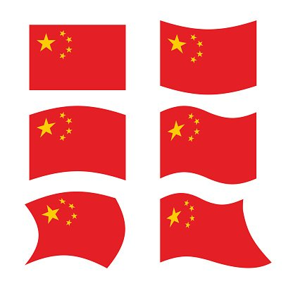416x416 China Set National Flag Of Chinese Red Flag Premium Clipart