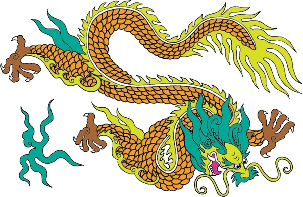 600x391 Chinese Dragon With Fire Free Vector Download (1,879 Free Vector