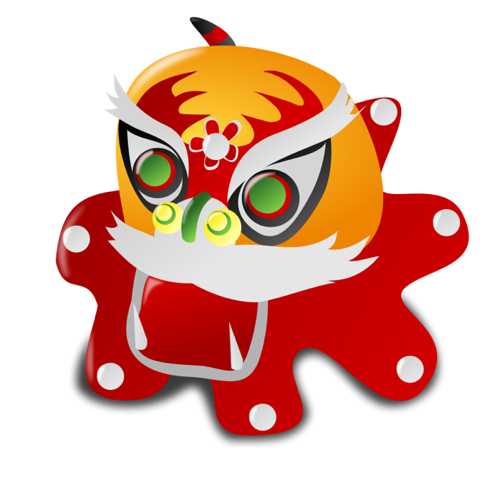 700x700 Free Clipart Of Chinese Dragons