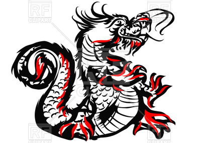 400x284 Sketch Of Chinese Dragon Royalty Free Vector Clip Art Image