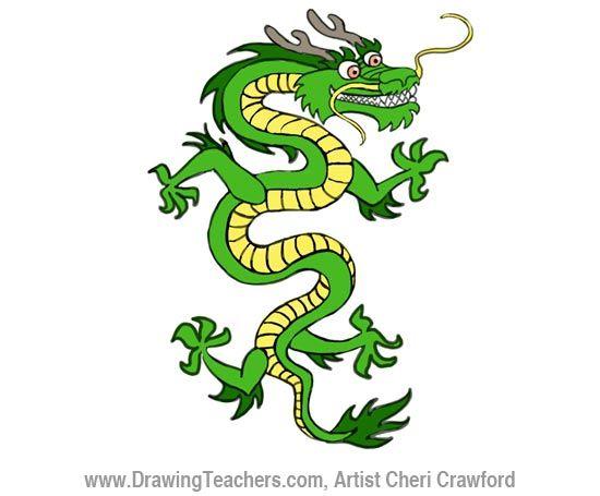 550x455 Chinese Dragon Drawing Dragons Chinese Dragon