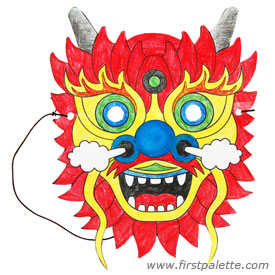 275x275 Chinese Dragon Mask Craft Kids' Crafts