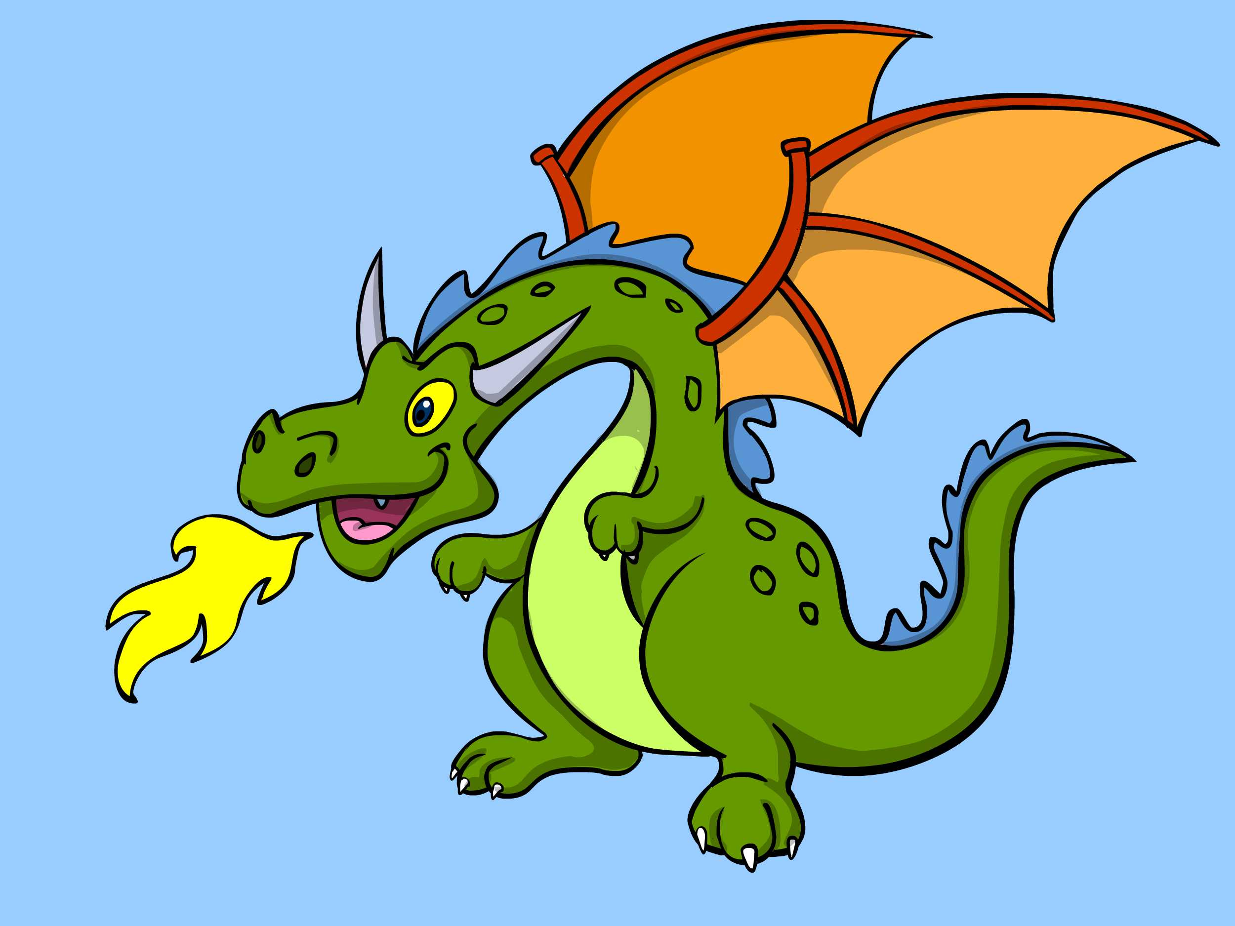 2500x1875 Energy Image Of A Dragon The 4 Best Ways To Draw Wikihow