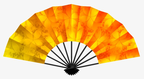 600x330 Classical Vector Cartoon Material,fan, Sketch, Chinese Style