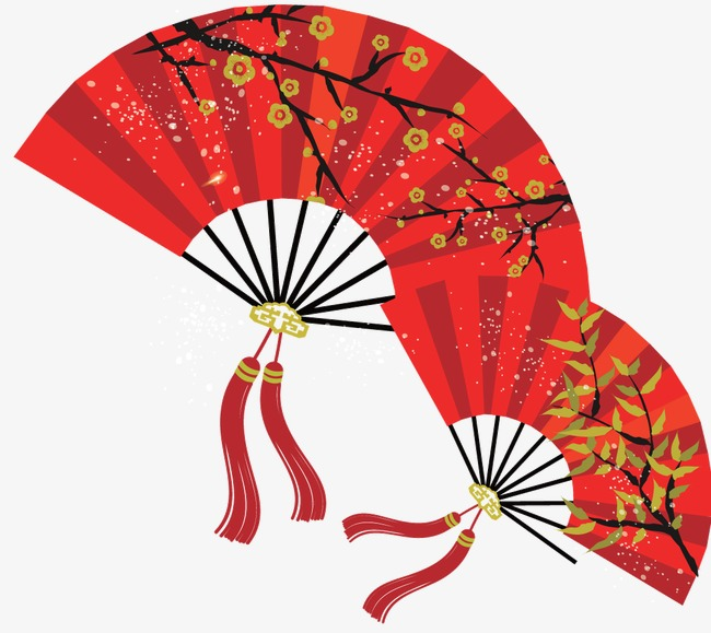 650x579 Red Chinese Fan Sub, Red Fan, Fan, Chinese Style Png And Vector