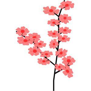 300x300 Flowers Sakura Clip Art