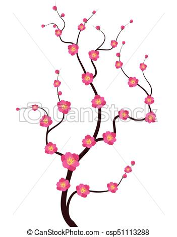 351x470 Vector Cherry Blossom For Chinese New Year And Lunar New Vector