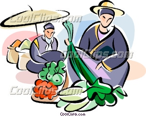 300x240 Chinese Food Market Clip Art