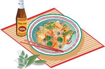 352x232 Thai Food Clipart